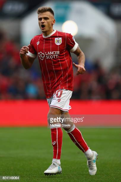Jamie Paterson of Bristol City during the pre season match between Bristol City and FC Twente at Ashton Gate on July 28 2017 in Bristol England