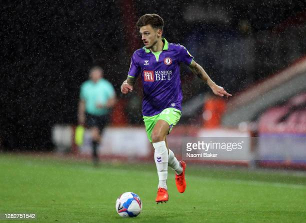 Jamie Paterson of Bristol City in action during the Sky Bet Championship match between AFC Bournemouth and Bristol City at Vitality Stadium on...