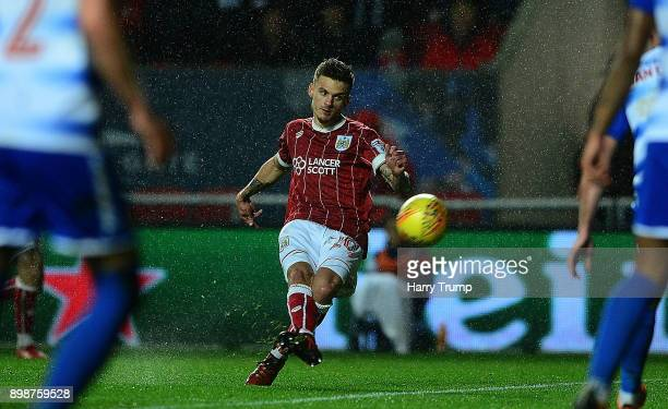 Jamie Paterson of Bristol City scores his sides first goal during the Sky Bet Championship match between Bristol City and Reading at Ashton Gate on...