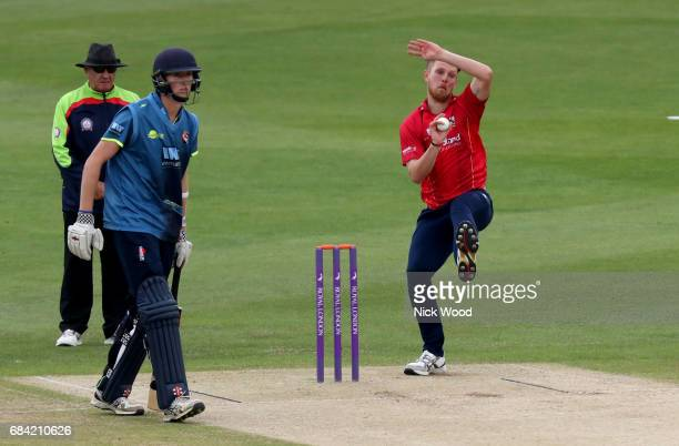 Jamie Porter of Essex in bowling action during the Royal London OneDay Cup between Kent and Essex at the Spitfire Ground on May 17 2017 in Canterbury...