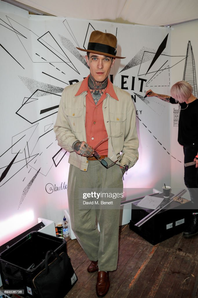 Jamie Q attends The Bulleit Woody at London Food Month's Night Market with The London Evening Standard on June 7, 2017 in London, England.