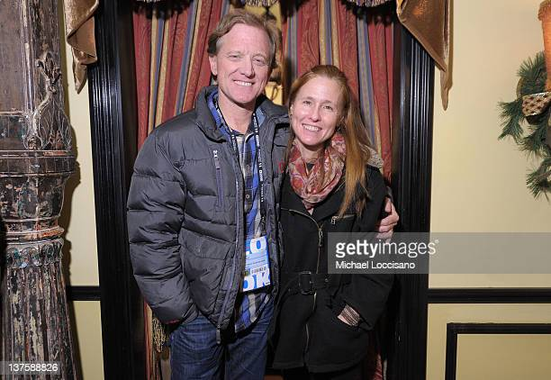Jamie Redford and Kyle Redford attend the HBO Sundance Documentary Party at Wahso Asian Grill on January 22 2012 in Park City Utah