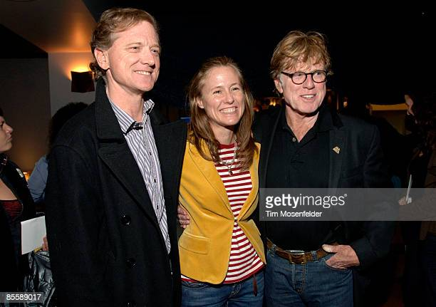 Jamie Redford Kyle Redford and Robert Redford attend the Premiere of HBO's Brave New Voices Youth Speaks at the Sundance Kubuki Cinemas on March 24...