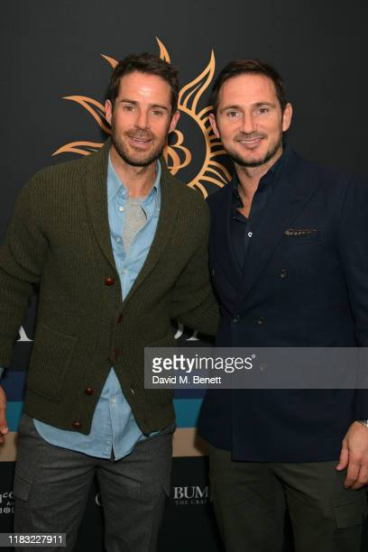 Jamie Redknapp and Frank Lampard attend the launch of Jamie Redknapp's fashion venture Sandbanks at Yopo The Mandrake Hotel on October 24 2019 in...
