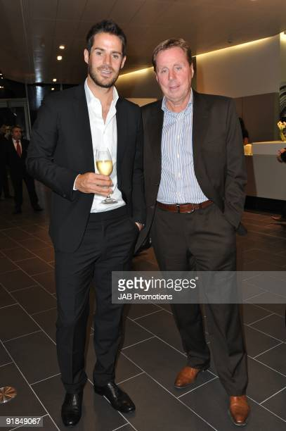 Jamie Redknapp and Harry Redknapp attends the opening of the new Audi Showroom on October 12 2009 in London England