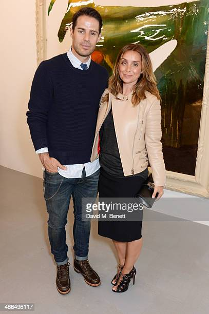 Jamie Redknapp and Louise Redknapp attend a private view of 'Julian Schnabel Every Angel Has A Dark Side' in aid of Chickenshed at The Dairy Art...