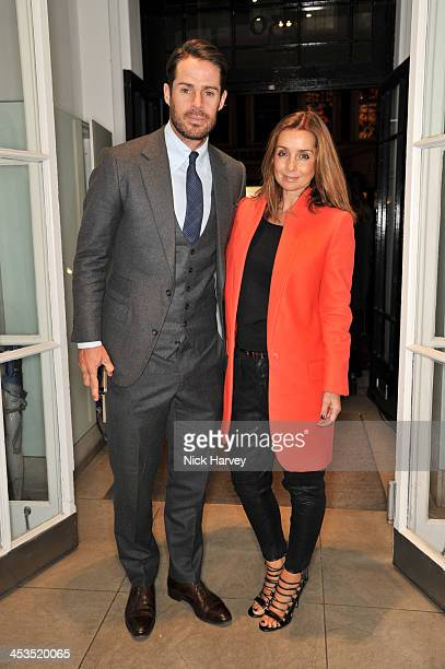 Jamie Redknapp and Louise Redknapp attend as the Christmas lights are switched on at Stella McCartney on December 4 2013 in London England