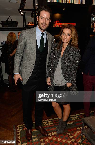 Jamie Redknapp and Louise Redknapp attend the opening of the new Thom Sweeney RTW MTM Store on November 13 2014 in London England
