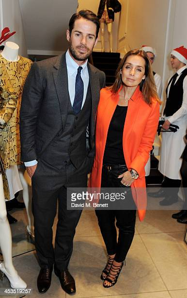 Jamie Redknapp and Louise Redknapp attend the Stella McCartney Christmas Lights Switch On at the Stella McCartney Bruton Street Store on December 4...