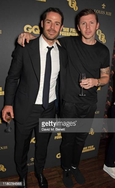 Jamie Redknapp and Professor Green attend attends an after party for the second worldwide screening of The Broken Butterfly hosted by Louis XIII...