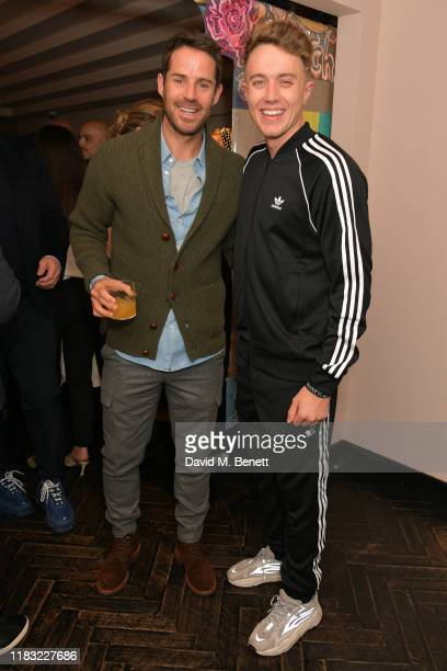 Jamie Redknapp and Roman Kemp attend the launch of Jamie Redknapp's fashion venture Sandbanks at Yopo The Mandrake Hotel on October 24 2019 in London...