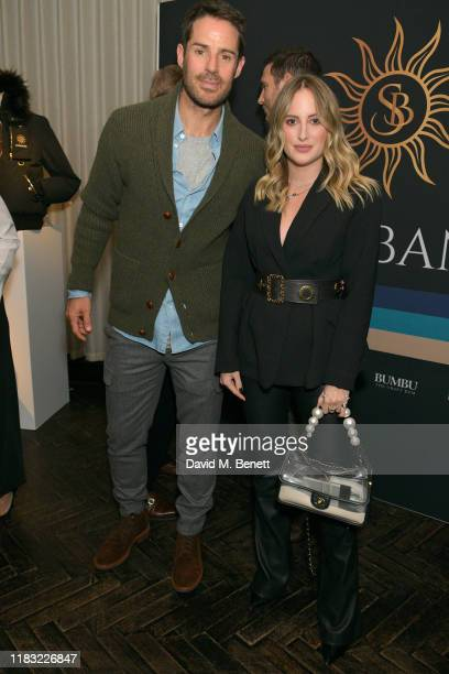 Jamie Redknapp and Rosie Fortescue attend the launch of Jamie Redknapp's fashion venture Sandbanks at Yopo The Mandrake Hotel on October 24 2019 in...