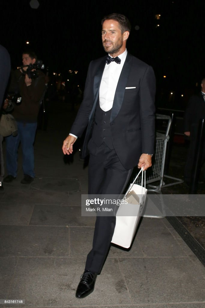 Jamie Redknapp attending the GQ awards on September 5, 2017 in London, England.