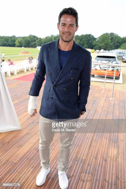 Jamie Redknapp attends the Audi Polo Challenge at Coworth Park Polo Club on July 1 2018 in Ascot England