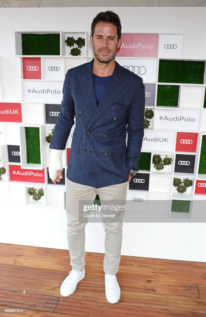 Jamie Redknapp attends the Audi Polo Challenge at Coworth Park Polo Club on July 1, 2018 in Ascot, England.