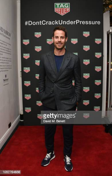 Jamie Redknapp attends the TAG Heuer auction featuring unseen art work from the Don't Crack Under Pressure Campaign in association with Cara...