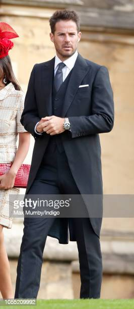 Jamie Redknapp attends the wedding of Princess Eugenie of York and Jack Brooksbank at St George's Chapel on October 12 2018 in Windsor England