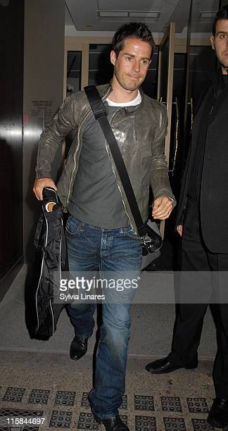 Jamie Redknapp during Celebrity Sightings at Nobu in London May 6 2007 at Nobu in London Great Britain