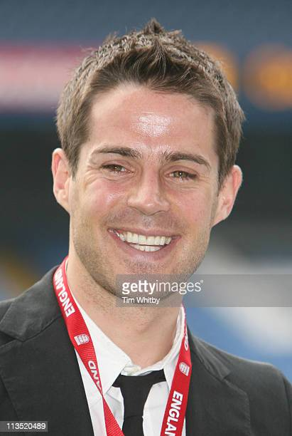 Jamie Redknapp during 'Match Master' The Interactive Hand Held Football Game Launch April 24 2006 at Stamford Bridge in London Great Britain