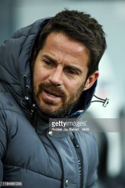 Jamie Redknapp during the Premier League match between Newcastle United and Chelsea FC at St James Park on January 18 2020 in Newcastle upon Tyne...
