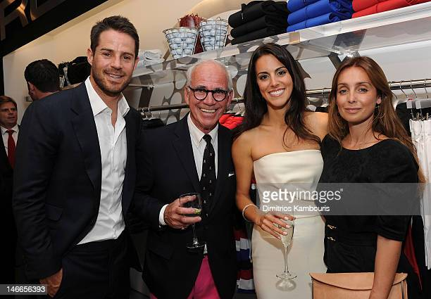 Jamie Redknapp Martin Hackel Diane Antonopoulos and Louise Redknapp attend Ralph Lauren's launch of The RLX Golf Shop with Luke Donald at Ralph...