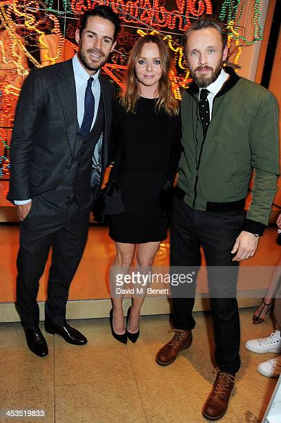 Jamie Redknapp Stella McCartney and Alasdhair Willis attend the Stella McCartney Christmas Lights Switch On at the Stella McCartney Bruton Street...
