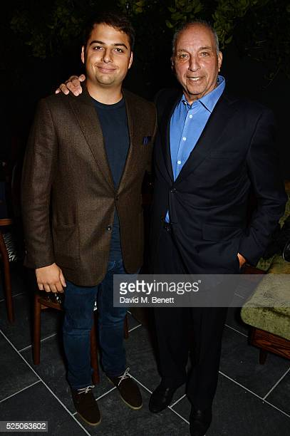 Jamie Reuben and David Reuben attend the launch of Restaurant Ours in Kensington on April 27 2016 in London England