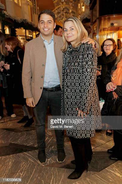 Jamie Reuben and Debra Reuben attend the launch of the 200th Burlington Christmas at Burlington Arcade on November 12 2019 in London England