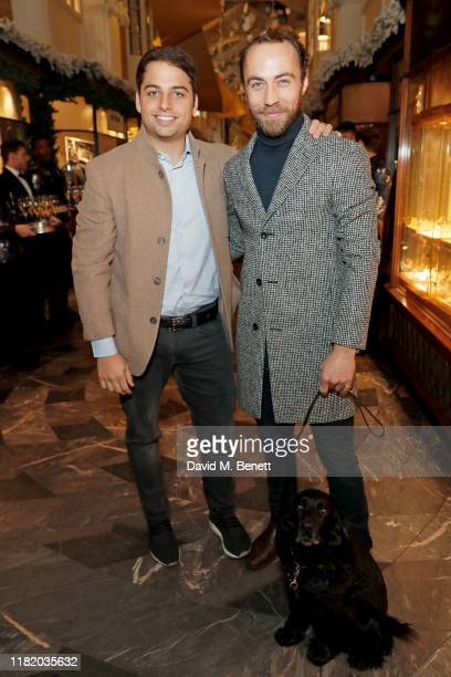 Jamie Reuben and James William Middleton attend the launch of the 200th Burlington Christmas at Burlington Arcade on November 12 2019 in London...
