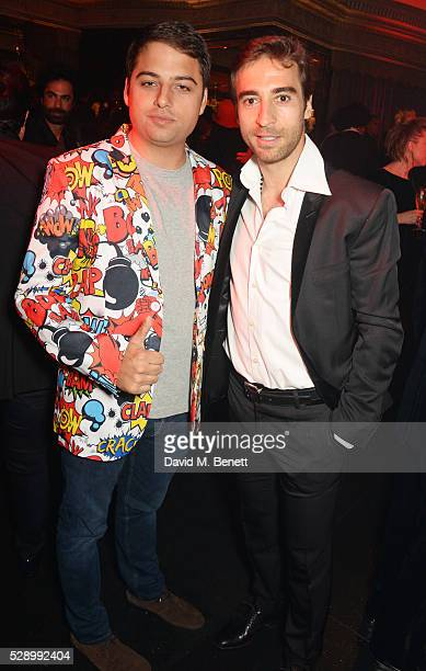 Jamie Reuben and Mathieu Flamini attend a Studio 54 party hosted by Jess Imerman at The Dorchester on May 7 2016 in London England