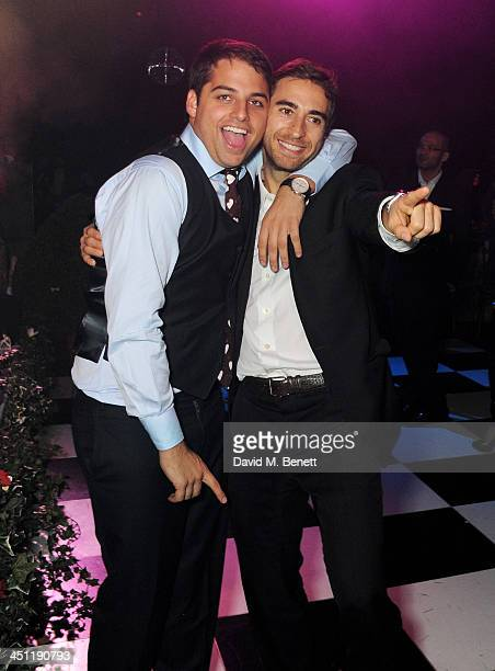 Jamie Reuben and Mathieu Flamini attend the Adventure in Wonderland Ball held by The Reuben Foundation in aid of Great Ormond Street Hospital...