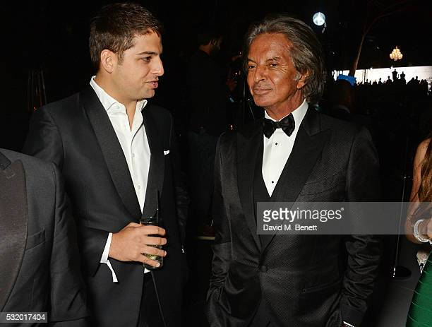 Jamie Reuben and Richard Caring attend the de Grisogono party during the 69th Cannes Film Festival at Hotel du CapEdenRoc on May 17 2016 in Cap...