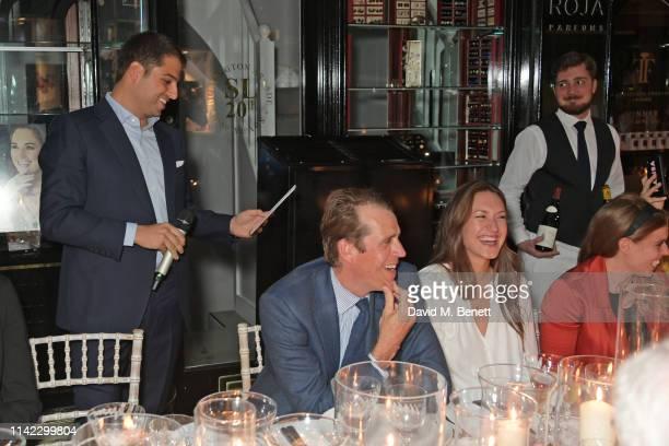 Jamie Reuben Ben Elliot MaryClare Winwood and Princess Beatrice of York attend the Burlington Arcade 200th anniversary dinner at Burlington Arcade on...