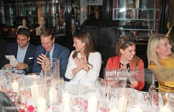 Jamie Reuben Ben Elliot MaryClare Winwood Princess Beatrice of York and Marissa Montgomery attend the Burlington Arcade 200th anniversary dinner at...