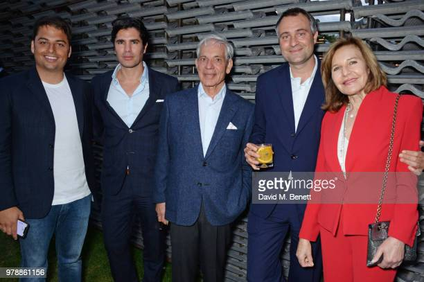 Jamie Reuben guest Simon Reuben Ben Goldsmith and Joyce Reuben attend the annual summer party in partnership with Chanel at The Serpentine Pavilion...