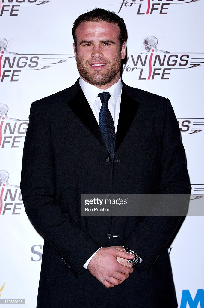 Jamie Roberts attends a dinner and ball hosted by The Cord Club in aid of Wings For Life at One Marylebone on February 28, 2013 in London, England.