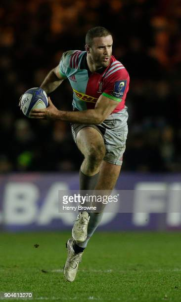 Jamie Roberts of Harlequins during the European Rugby Champions Cup match between Harlequins and Wasps at Twickenham Stoop on January 13 2018 in...