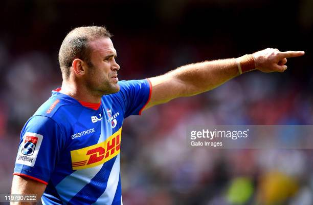 Jamie Roberts of the Stormers during the Super Rugby match between DHL Stormers and Hurricanes at DHL Newlands Stadium on February 01, 2020 in Cape...