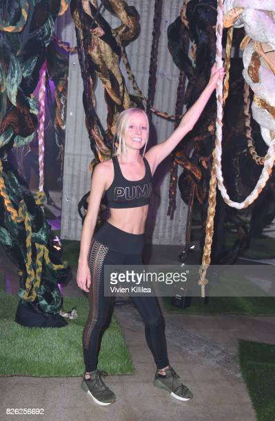 Jamie Schuppert attends PUMA Hosts CAMP PUMA To Launch Their Newest Women's Collection Velvet Rope at Goya Studios on August 3 2017 in Los Angeles...