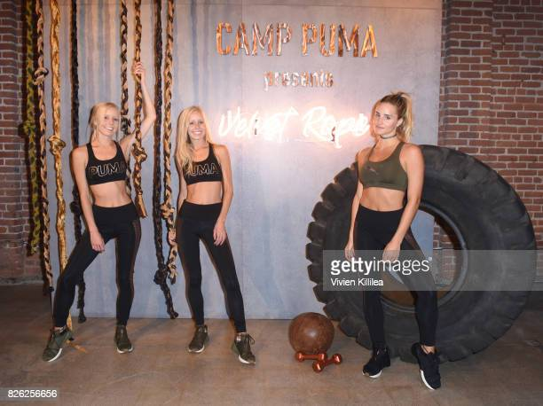 Jamie Schuppert Kristin Schuppert and Emily Palos attend PUMA Hosts CAMP PUMA To Launch Their Newest Women's Collection Velvet Rope at Goya Studios...