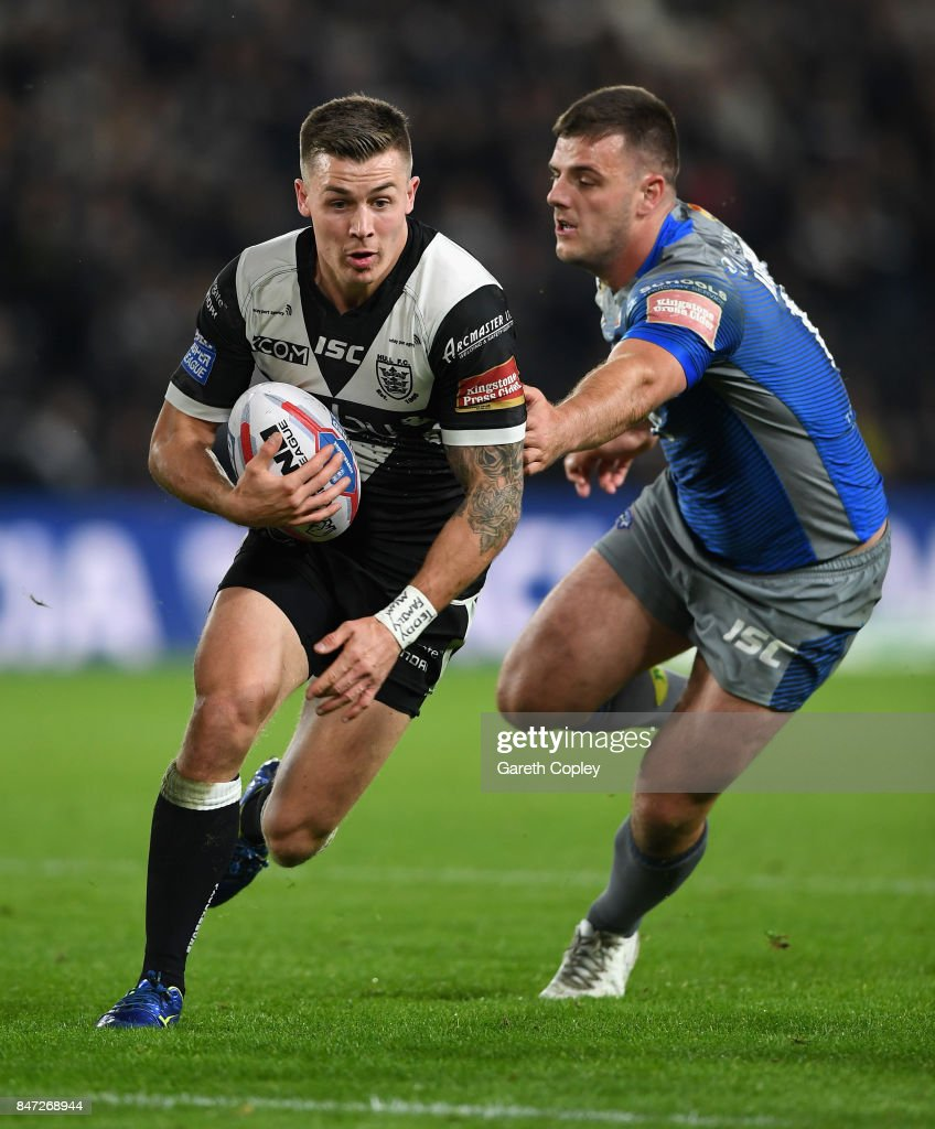 Jamie Shaul of Hull FC during the Betfred Super League match between Hull FC and Wakefield Trinity on September 14, 2017 in Hull, England.