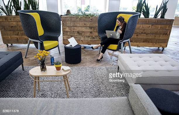 Jamie Shaw director of brand experience at Mod works inside the company's workspace in San Francisco California US on Tuesday April 26 2016 Mod hopes...