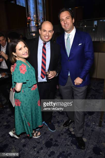 Jamie Shupak Stelter Brian Stelter and Matthew Belloni attend The Hollywood Reporter's 9th Annual Most Powerful People In Mediaat The Pool on April...