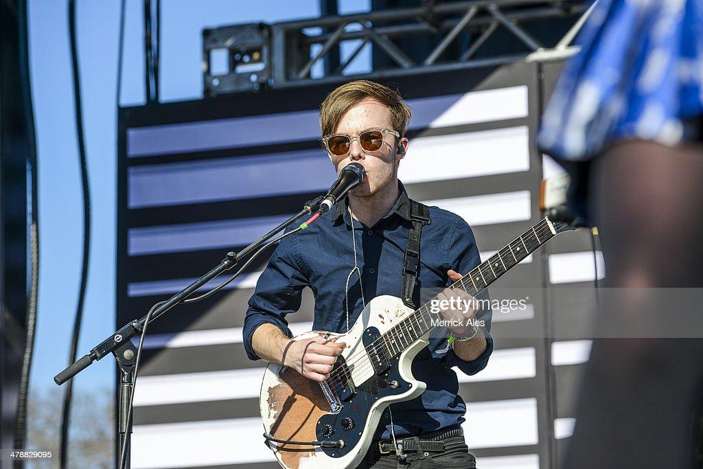 Jamie Sierota of Echosmith performs at the 2014 mtvU Woodie Awards on March 13, 2014 in Austin, Texas.