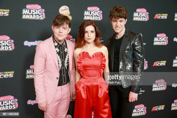 Jamie Sierota Sydney Sierota and Noah Sierota of Echosmith attends the 2018 Radio Disney Music Awards at Loews Hollywood Hotel on June 22 2018 in...
