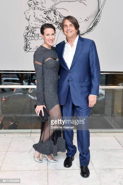 Jamie Singer and Robert Soros at the Hammer Museum 15th Annual Gala in the Garden with Generous Support from Bottega Veneta on October 14 2017 in Los...