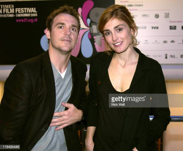 Jamie Sives and Julie Gayet during The Times BFI 49th London Film Festival 'A Woman In Winter' in London Great Britain