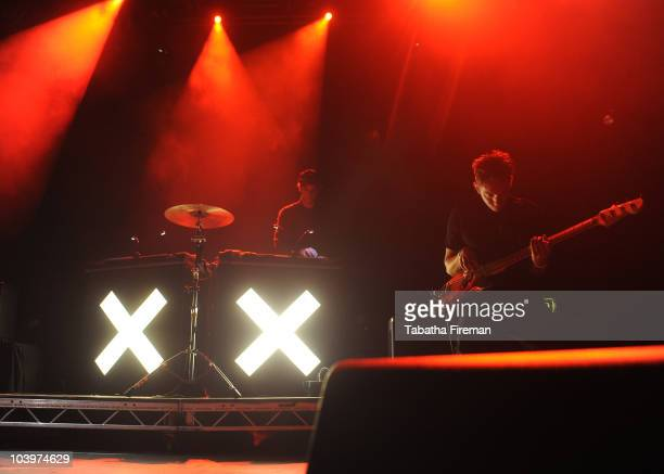 Jamie Smith and Oliver Sim of Mercury Music Prize winners The xx perform on the Big Top stage during the second day of Bestival at Robin Hill Country...