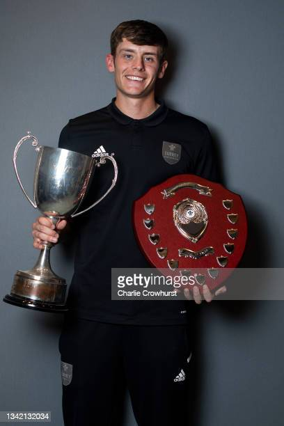 Jamie Smith poses for a photo after being awarded the Member's player of the year and Players player of the year award at the Surrey CCC club awards...