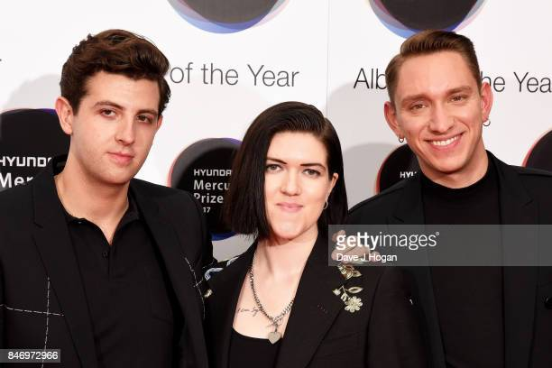Jamie Smith Romy Madley Croft and Oliver Sim of The xx arrive at the Hyundai Mercury Prize 2017 at Eventim Apollo on September 14 2017 in London...